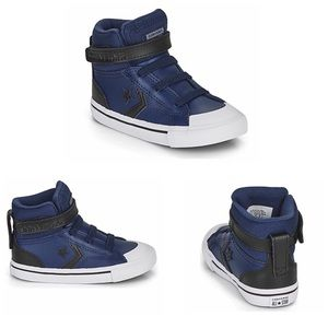 Converse Leather High Top Blue/Black Size 8